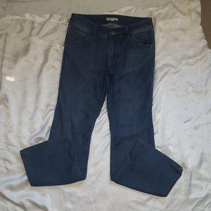 CAbi Jeans Boot cut Flare Sz 8 Acid Wash